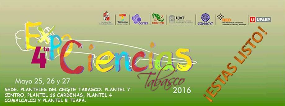 4ta. ExpoCiencias Tabasco 2016